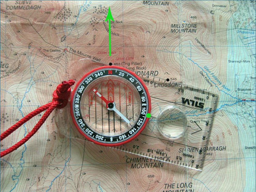 how to use compass to find degrees