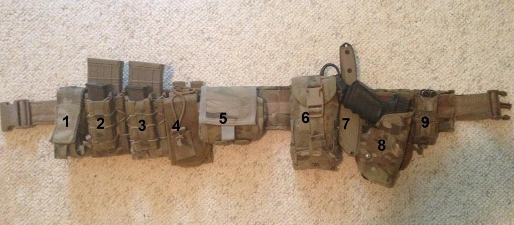 how to set up battle belt